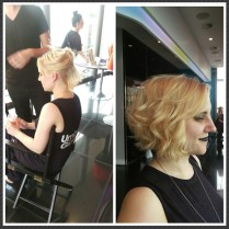 "Lauren's ""un-curl-able"" hair, curled!"