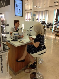 Laura's skin consultation at Dermalogica